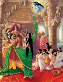 Plate 6 The insulting of Draupadi.