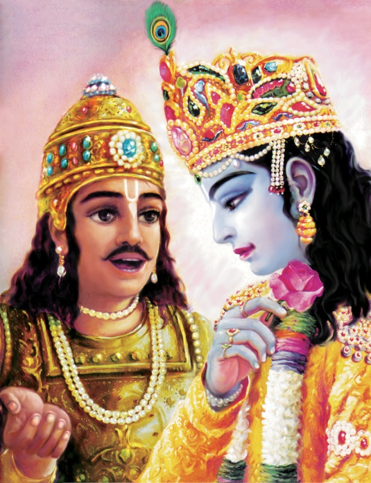 Krishna and Arjuna  Plate 29
