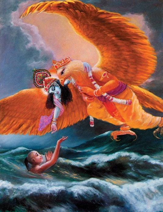 Krishna riding on Garuda  Plate 33